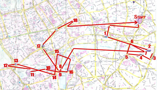 Unsere London Route